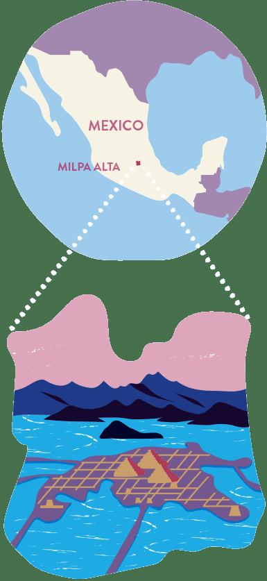 Icon Map of Milpa Alta